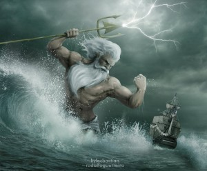 Poseidon (Neptune) Greek God - Art Picture by rodolfoguerreiro