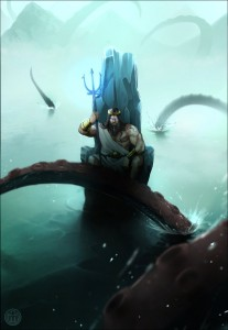 Poseidon (Neptune) Greek God - Art Picture by mullerpereira