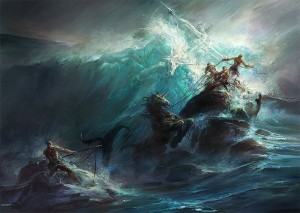 Poseidon (Neptune) Greek God - Art Picture by GBrush