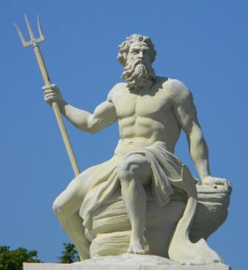Greek God Poseidon (Neptune) Statue - A sculpture of Poseidon in the port of Copenhagen.