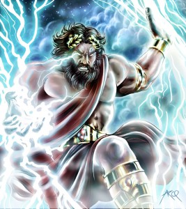 Zeus (Jupiter) Greek God - Art Picture by ArcosArt