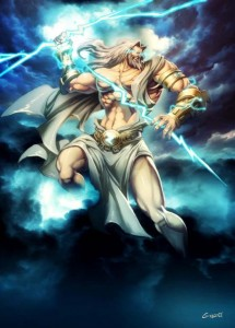Zeus (Jupiter) Greek God - Art Picture also by GenzoMan