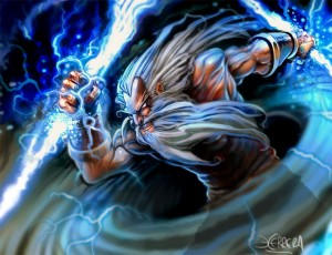 Zeus (Jupiter) Greek God - Art Picture by el grimlock