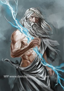 Zeus (Jupiter) Greek God - Art Picture by davidap