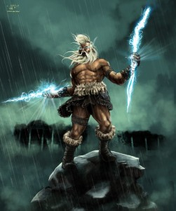 Zeus (Jupiter) Greek God - Art Picture by Ilker Yuksel