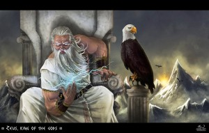 Zeus (Jupiter) Greek God - Art Picture by dariojart