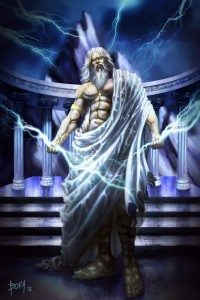 Zeus (Jupiter) Greek God - Art Picture by donquijote10