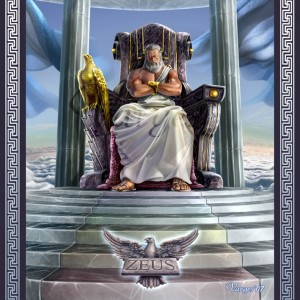 Zeus (Jupiter) Greek God - Art Picture by Varges