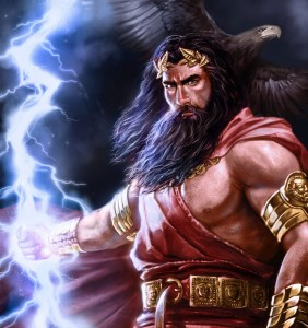 Zeus (Jupiter) Greek God - Art Picture by laclillac