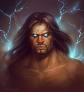 Zeus (Jupiter) Greek God - Art Picture by vetrova