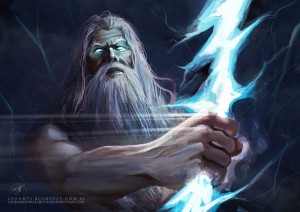 Zeus (Jupiter) Greek God - Art Picture by le0arts