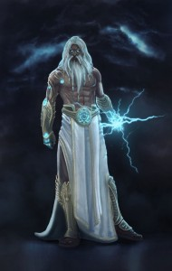 Zeus (Jupiter) Greek God - Art Picture also by titanslicer