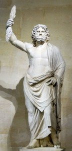 Zeus (Jupiter) Greek God Statue - The Jupiter de Smyrne, discovered in  Smyrna  in 1680.
