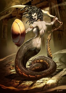 Medusa Gorgon (Mythical Creature) - Art Picture by GenzoMan