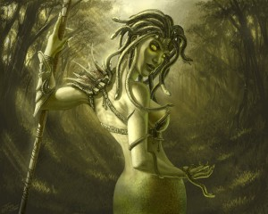 Medusa Gorgon (Mythical Creature) - Art Picture by Tamplierpainter