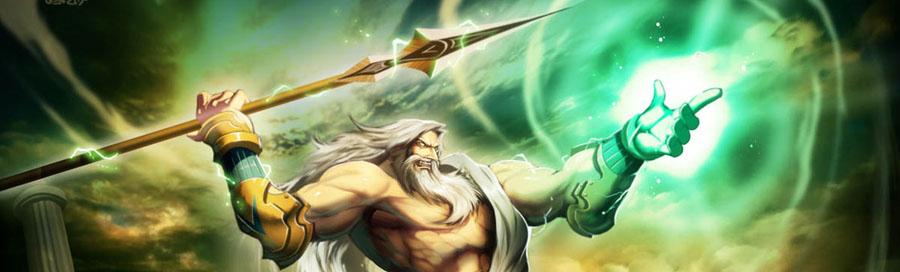 Zeus (Jupiter) - Greek God - King of the Gods and men. Zeus was the top god of the pantheon of the Olympians and the supreme god of the ancient Greeks.